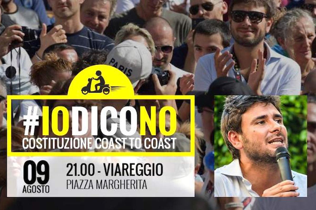 #IODICONO. È iniziato il viaggio in scooter di Di Battista per dire No al referendum sulla nuova Costituzione