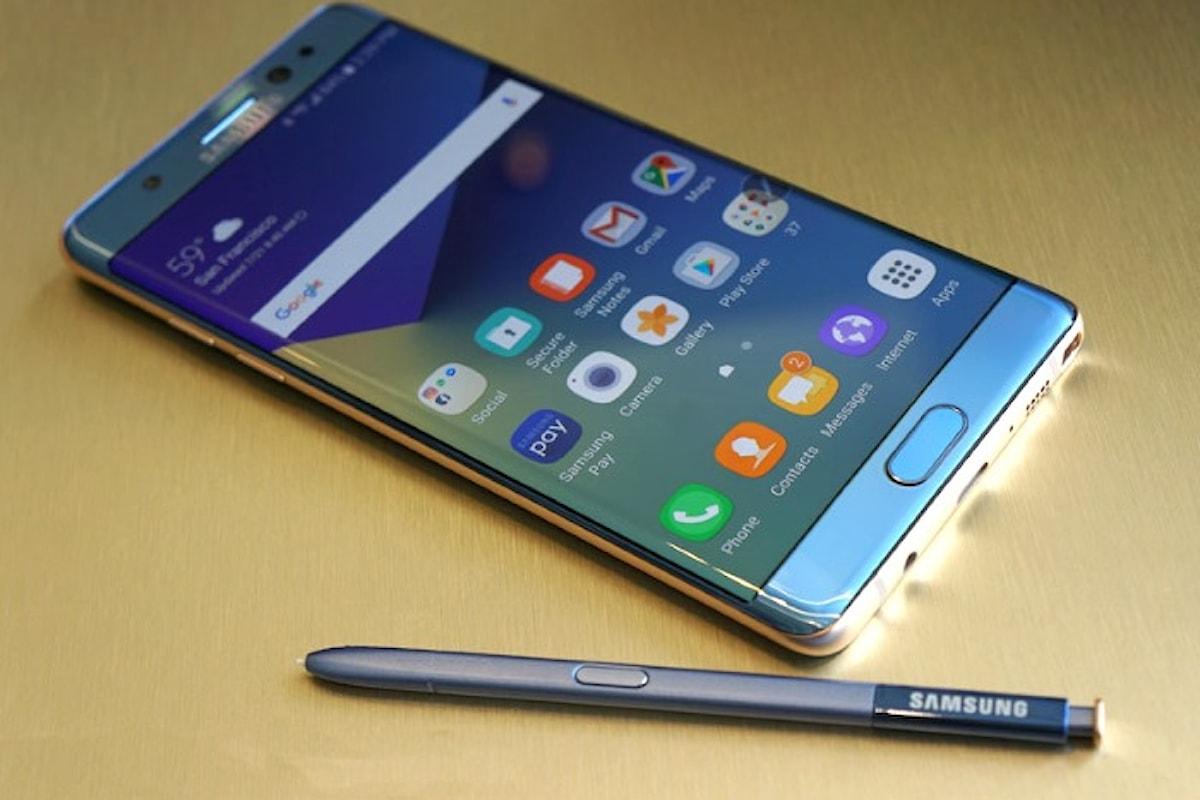 Samsung ha deciso di mettere sul mercato i Note 7 rigenerati