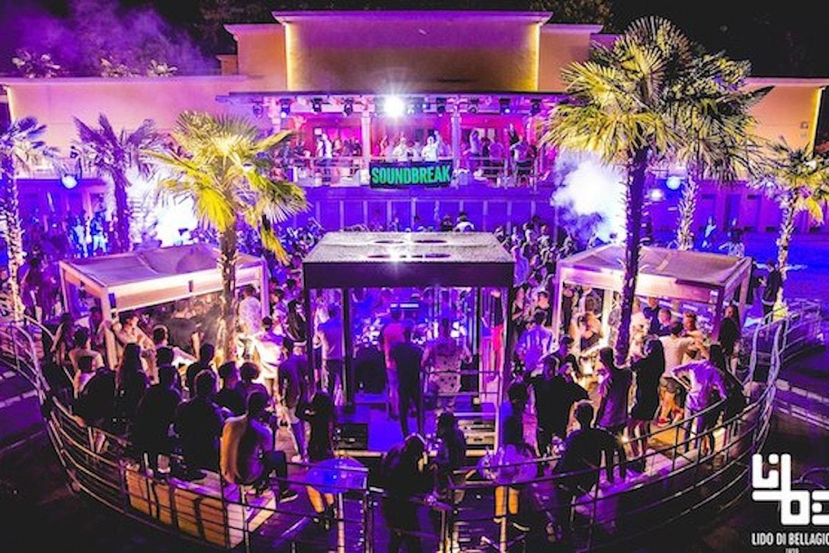 Lido di Bellagio (Como) 4/8 FridayNight, 5/8 Crazy Fluo & Party Boat, 6/8 Aperitivo on the beach