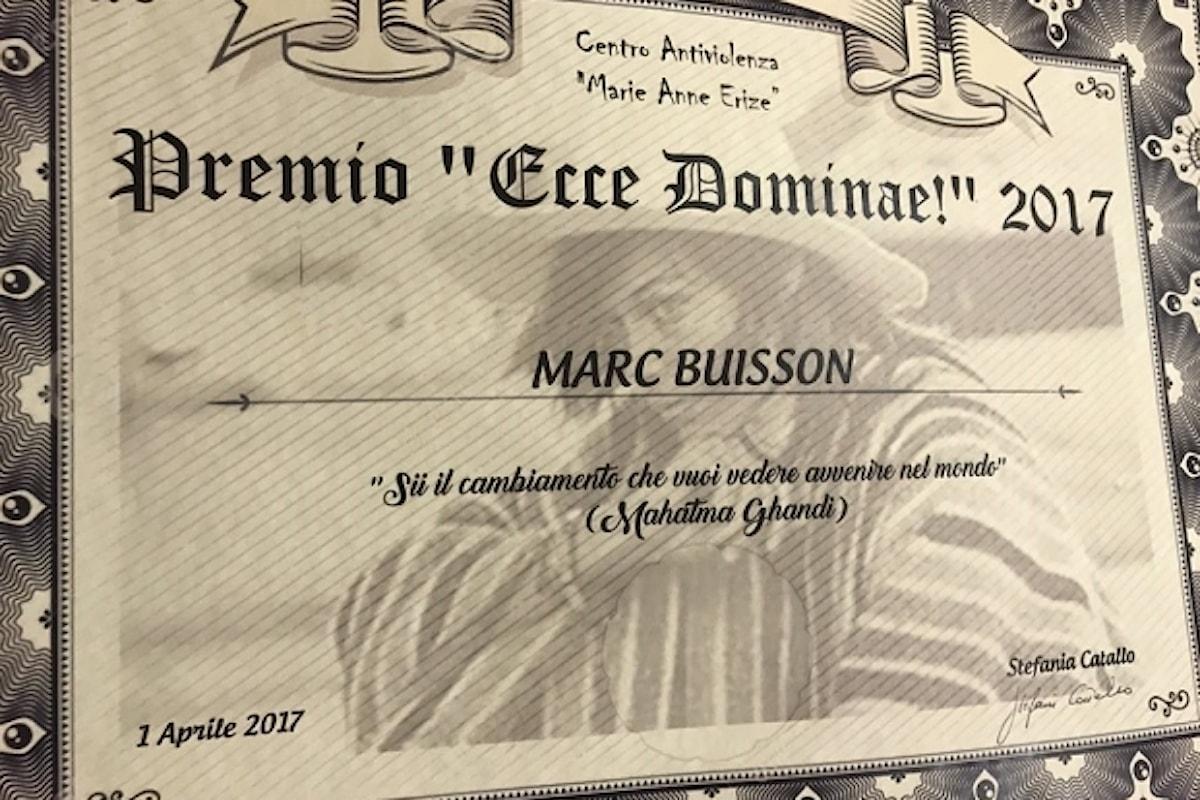 Marc Buisson riceve a Roma il premio Ecce Dominae