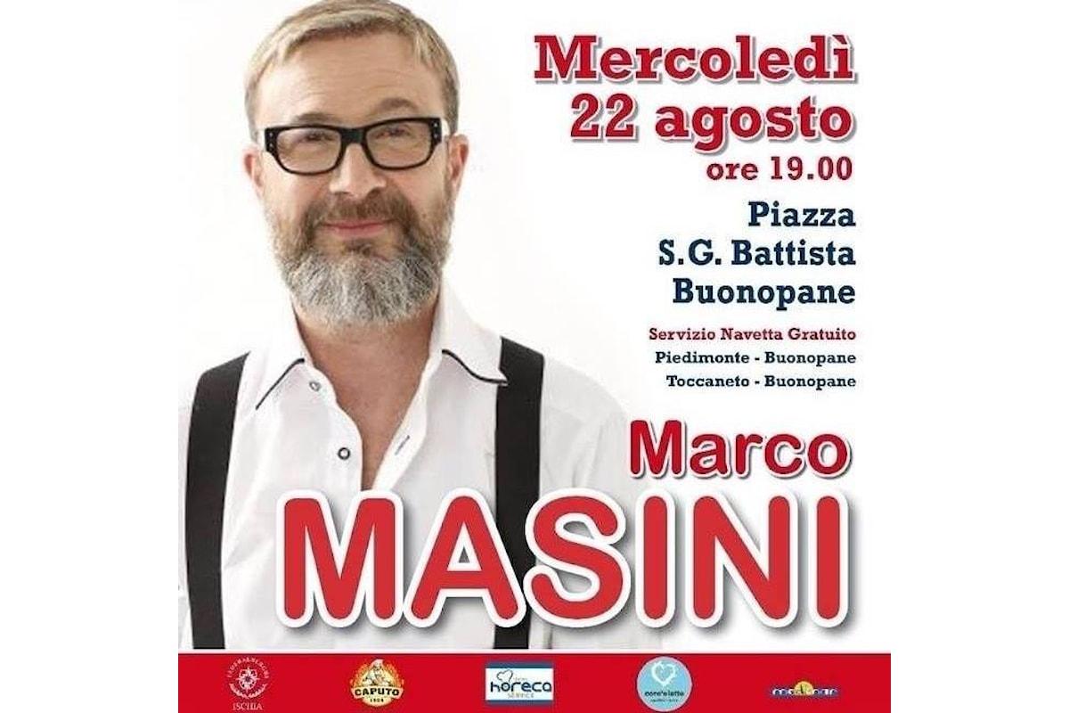Marco Masini in concerto a Buonopane (Ischia) il 22 agosto