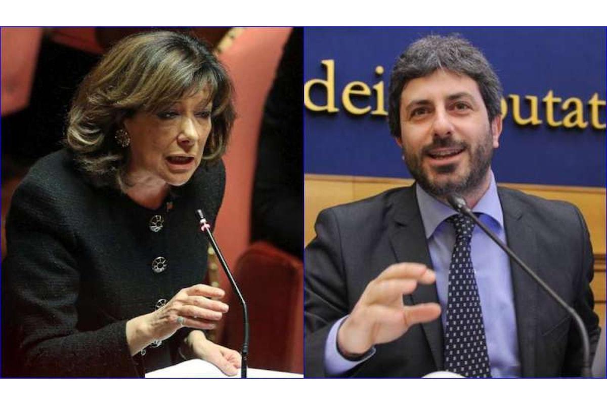 Eletti i presidenti: Casellati al Senato e Fico alla Camera