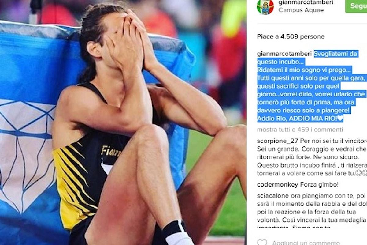 Tamberi fa il record italiano ma si infortuna e salta Rio. La crudeltà dello sport.