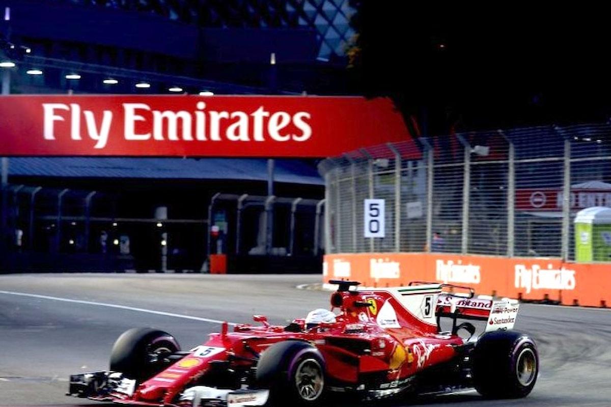 Formula 1, un incredibile Vettel conquista la pole nel GP di Singapore