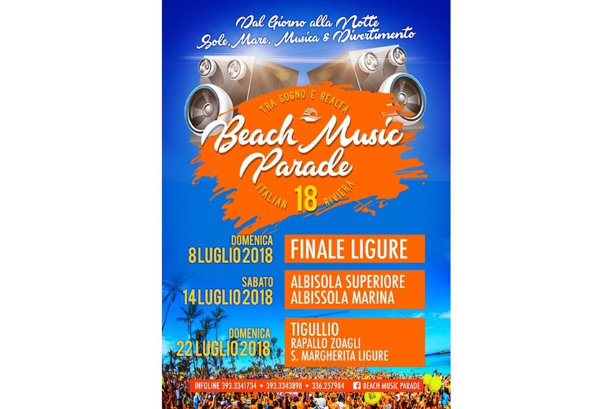 Beach Music Parade - Sole, mare, musica & divertimento in Liguria: 8/7 Finale Ligure, 14/7 Albisola Superiore ed Albisola Marina, 22/7 Tigullio
