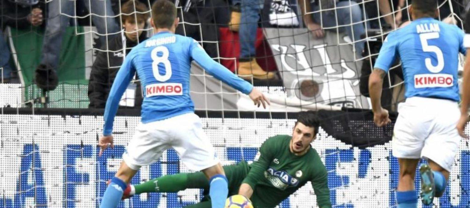 SERIE A - Napoli corsaro a Udine e ancora primo nonostante la brutta partita