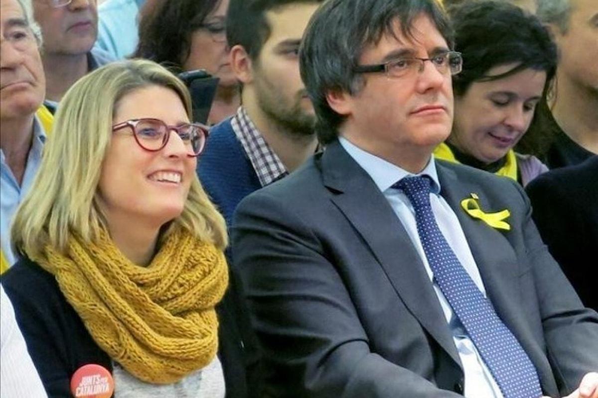 Il 17 gennaio la prima riunione del Parlamento catalano. Artaldi, JxCat, ripropone Puigdemont e Junqueras come presidente e vicepresidente della Generalitat
