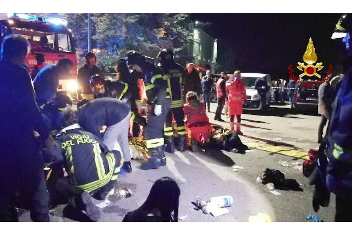 6 vittime e 12 feriti di cui 7 in pericolo di vita il tragico bilancio di un concerto in una discoteca nelle Marche