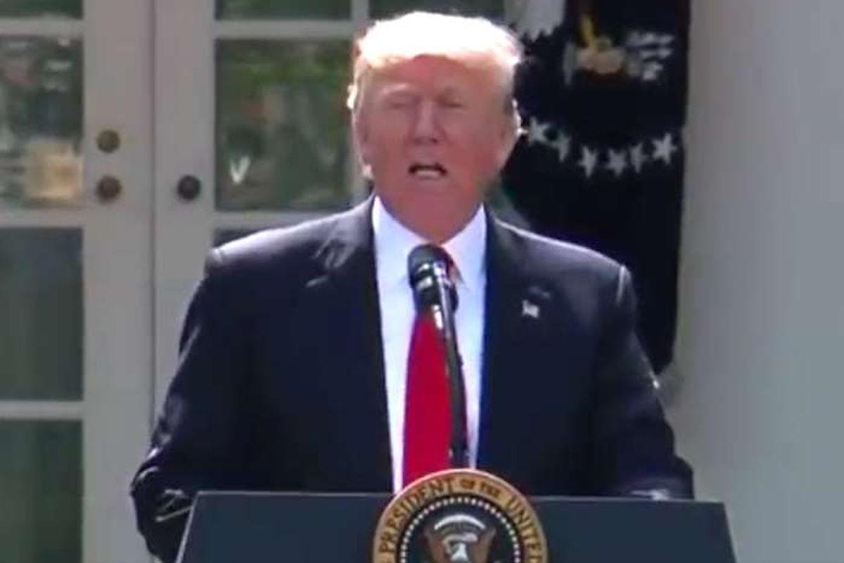Gli USA fuori dagli accordi di Parigi del 2015. Trump mette a rischio il clima della Terra