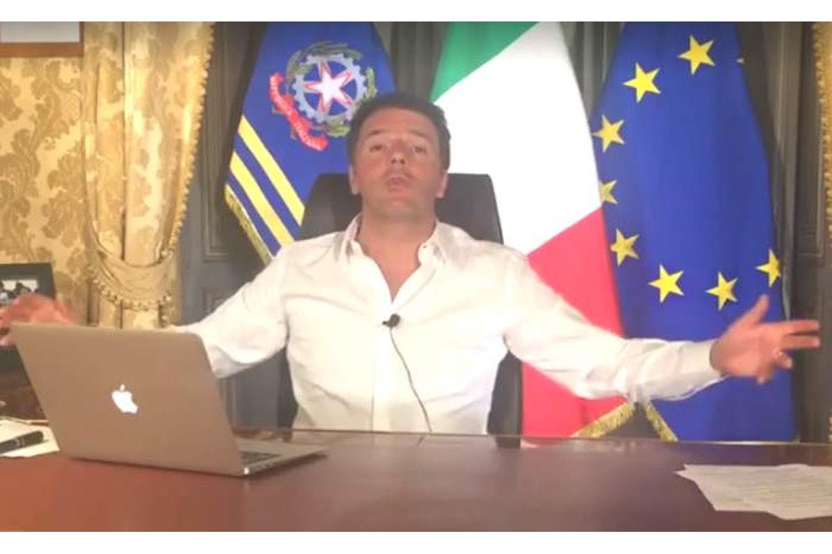 Le promesse elettorali di Matteo Renzi, ieri su facebook in onda su #matteorisponde