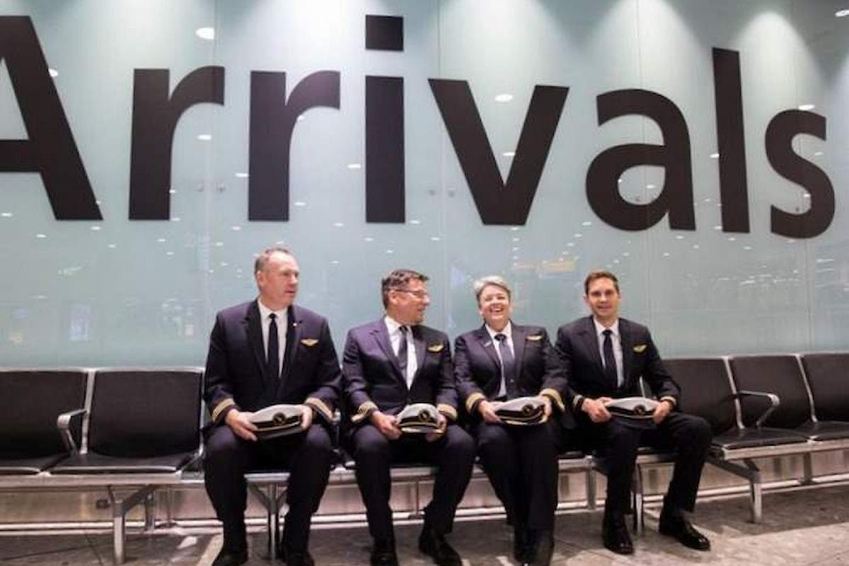 Qantas ha inaugurato il primo volo commerciale non-stop tra Europa e Australia