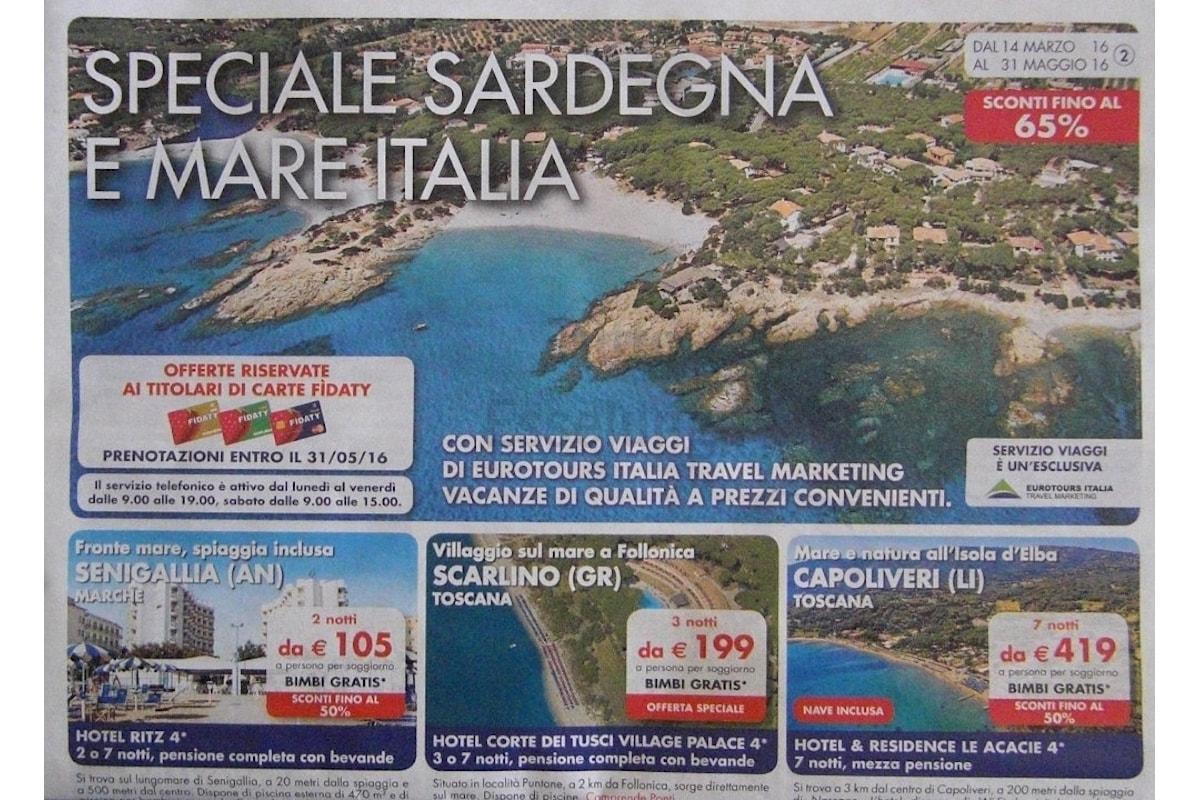 Il nuovo volantino vacanze Esselunga Speciale Sardegna e mare Italia