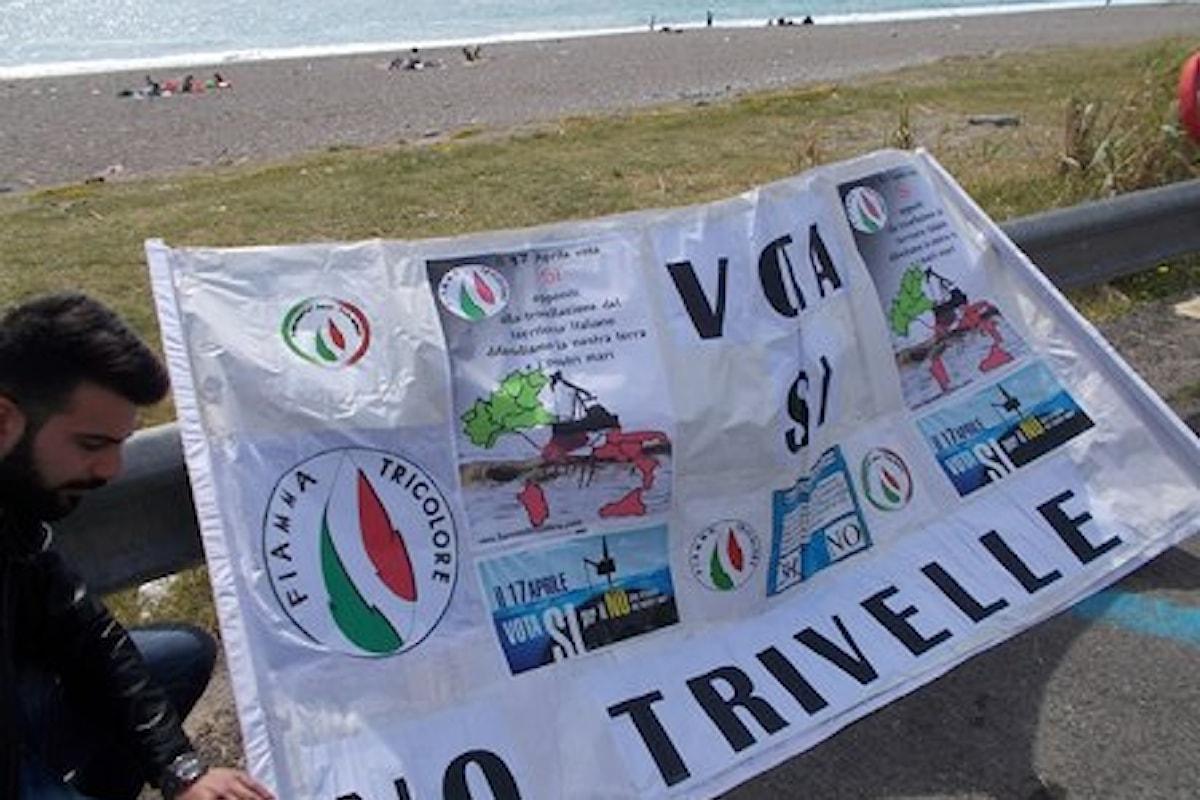 Sit-in del Movimento Sociale FT per il SI al Referendum sulle Trivelle