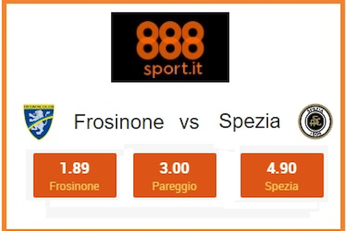 SERIE B Frosinone-Spezia, scossa gialloazzurra a 1,89