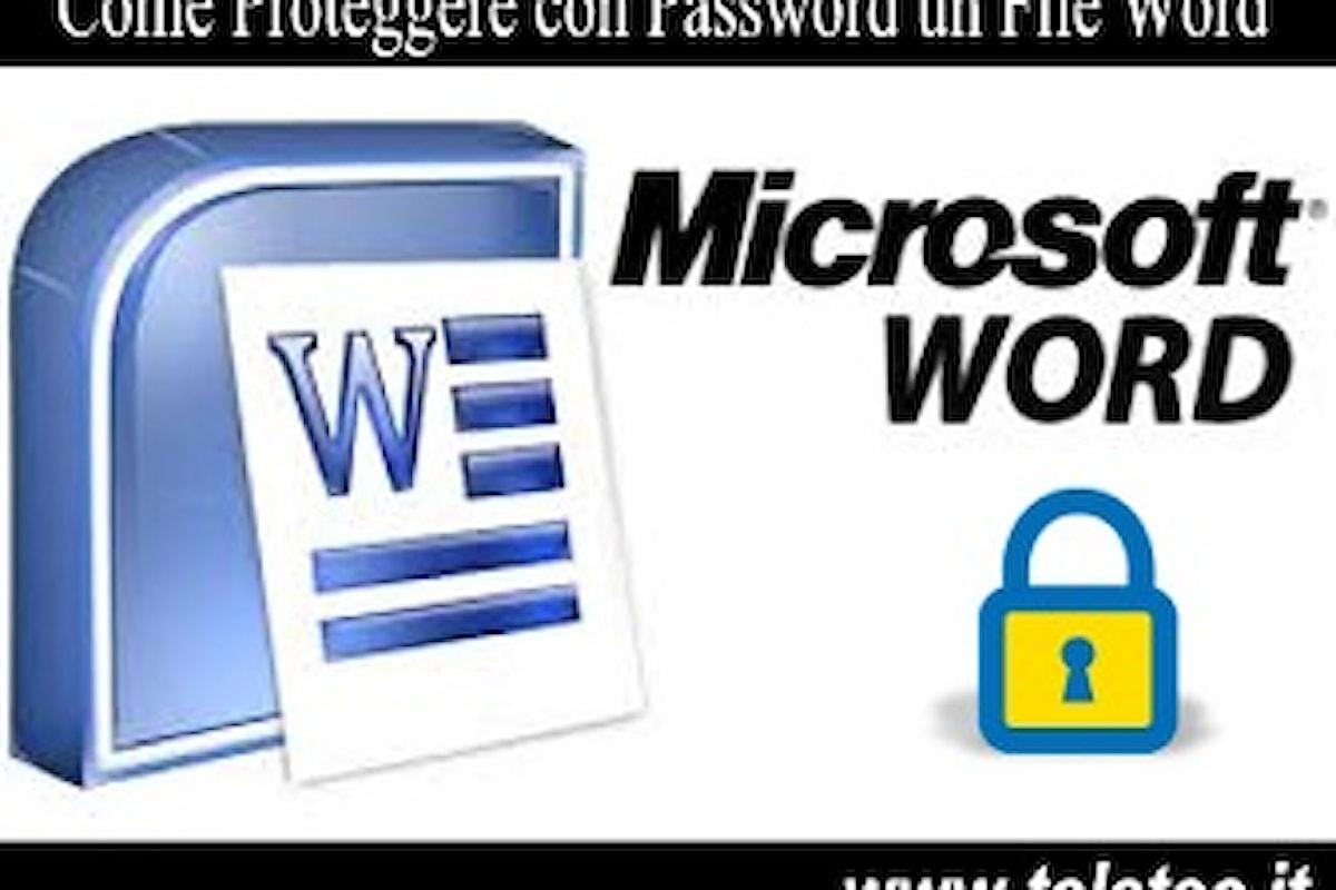 Come Proteggere i Documenti Word, Excel e PowerPoint con Password