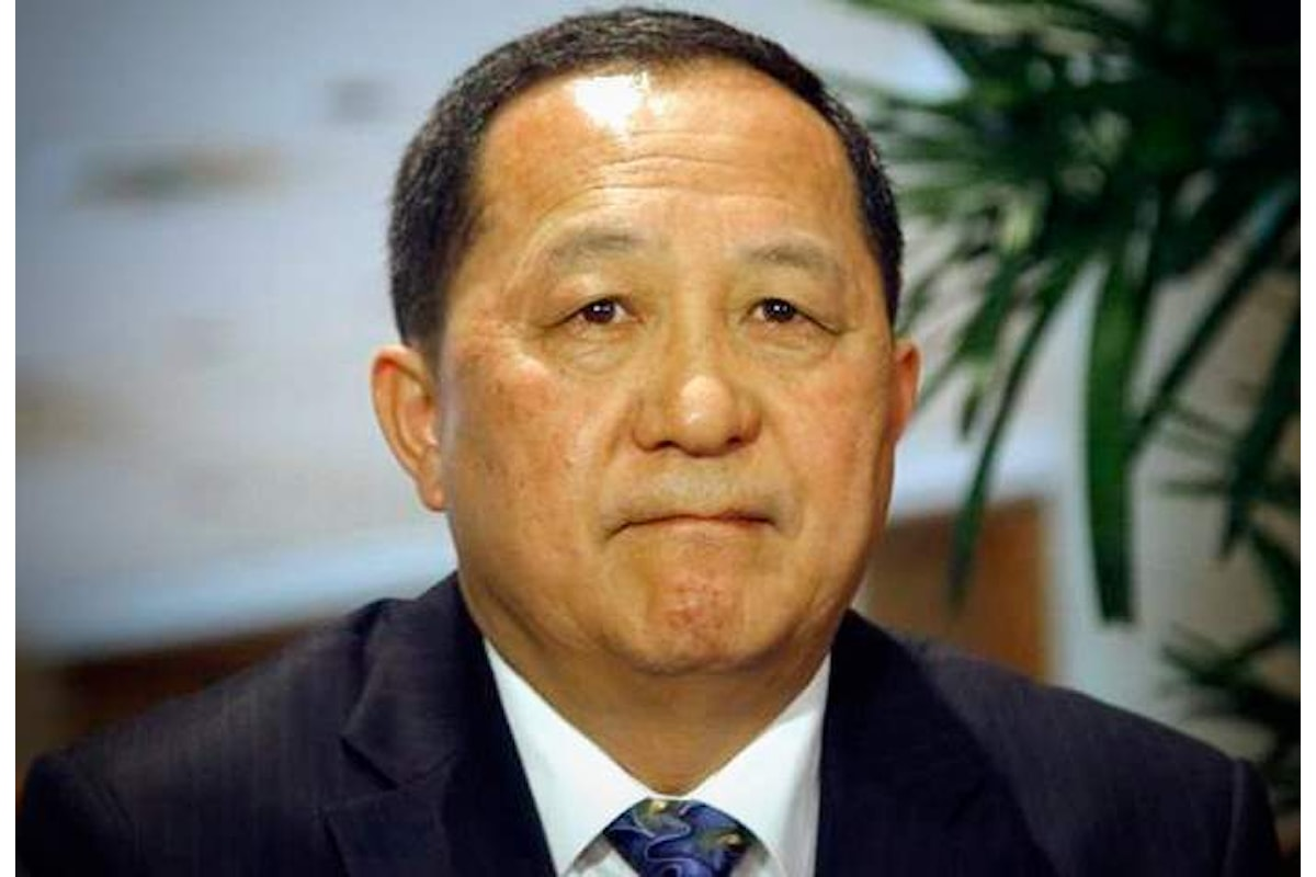 Il ministro degli Esteri nordcoreano Ri Yong Ho: Gli Usa ci hanno dichiarato guerra