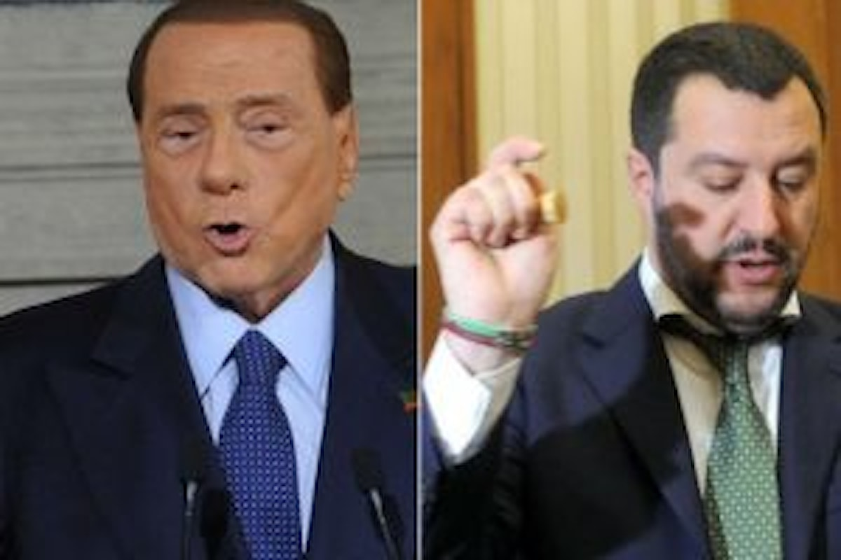 Matteo Salvini e l'ennesimo contrasto con l'ex premier Berlusconi
