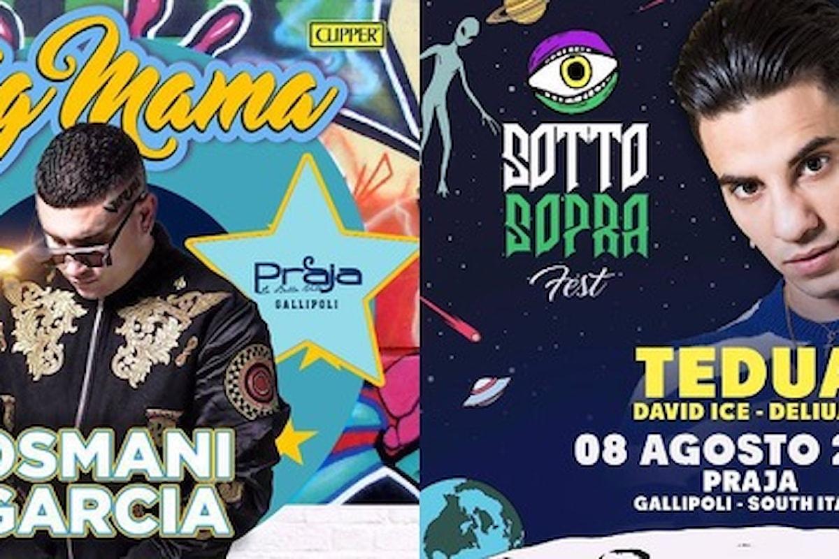 Osmani Garcia e Tedua alla Praja di Gallipoli per Big Mama e Sottosopra Fest