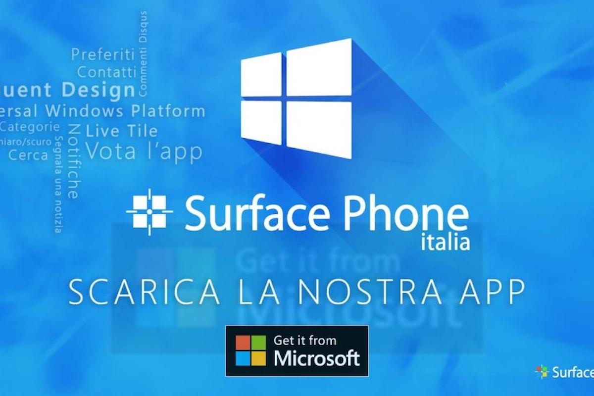 Surface Phone Italia è finalmente disponibile sul Windows Store per Windows 10 e Windows 10 Mobile