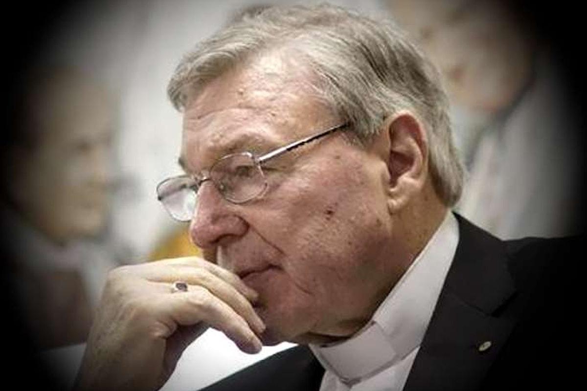 Il cardinale Pell accusato di abusi sessuali dalla magistratura australiana