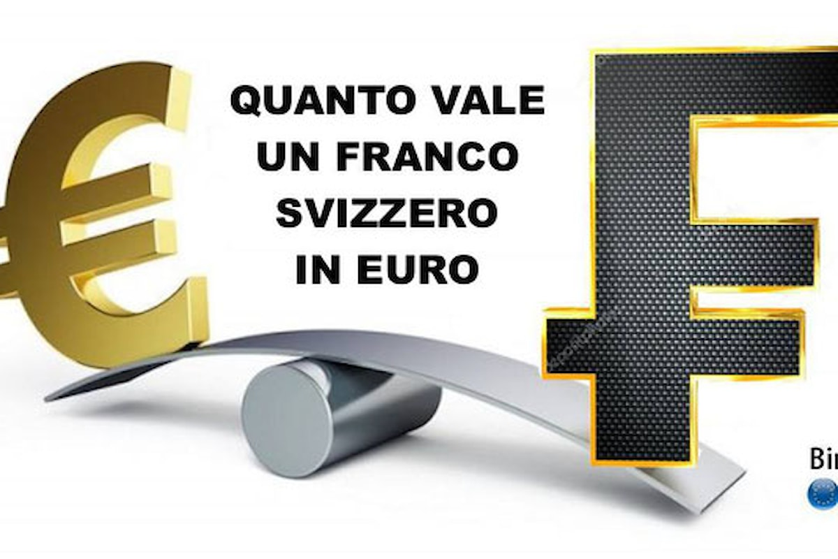 Quanto vale un franco svizzero in euro oggi? Scopri la quotazione in tempo reale con il convertitore gratis di valuta