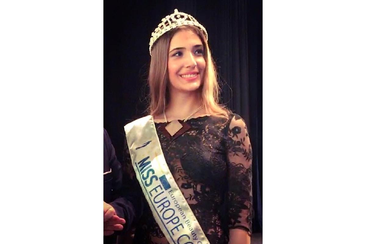 Miss Europe Continental Italia 2017 è Sofia Di Chicco, motori accesi per la grande finale europea a Napoli