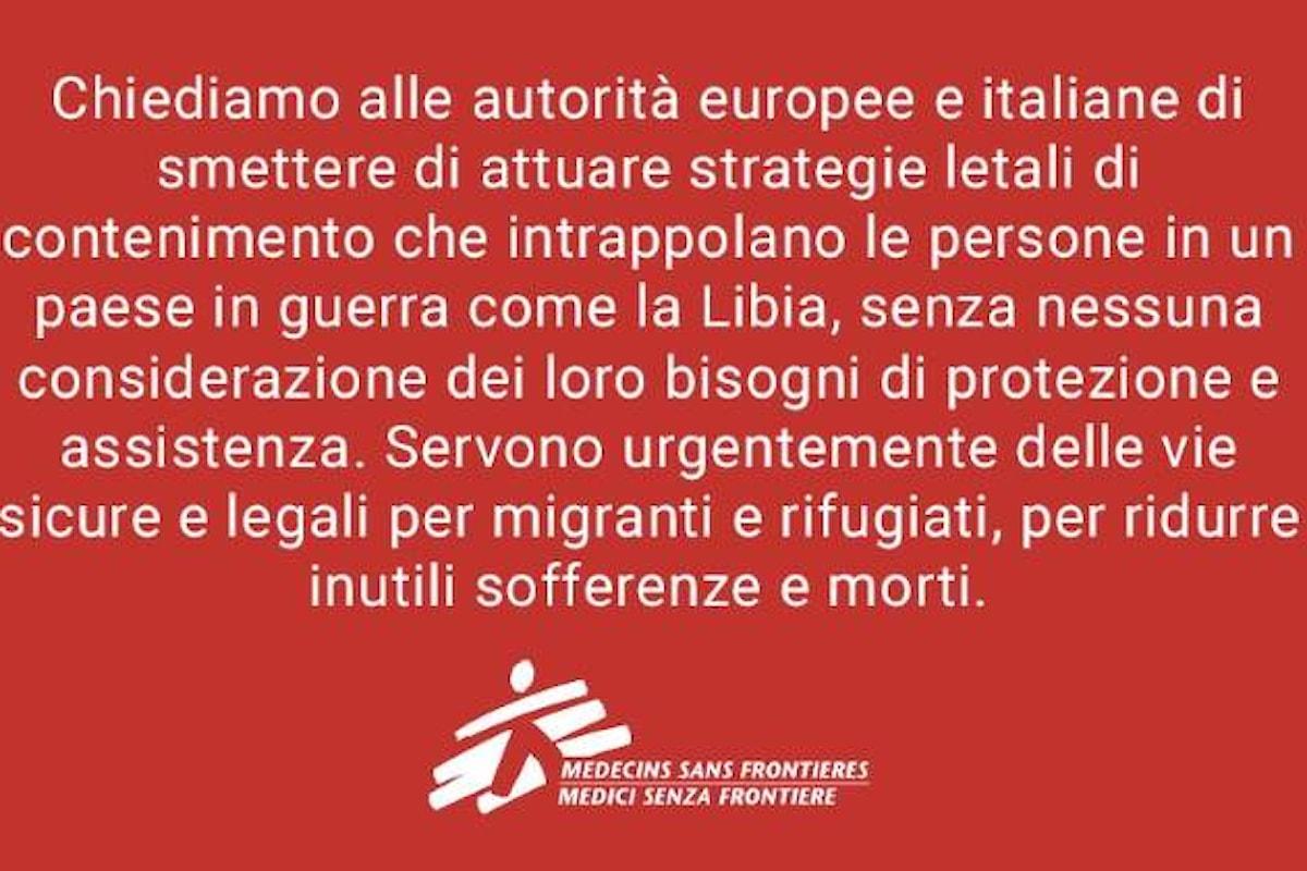 La denuncia di MSF: strategie letali contro i migranti da parte delle autorità europee e italiane