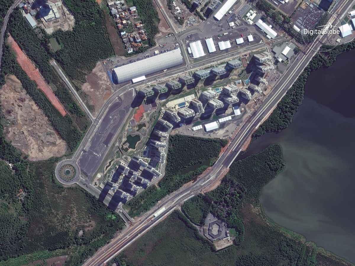 Le olimpiadi di Rio viste dallo spazio