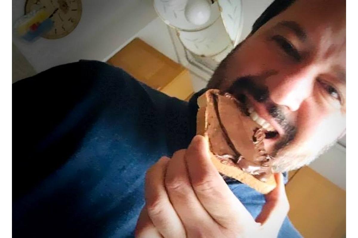 Salvini: volete mettere pane e nutella rispetto ad un terremoto e ad un'ammazzatina?