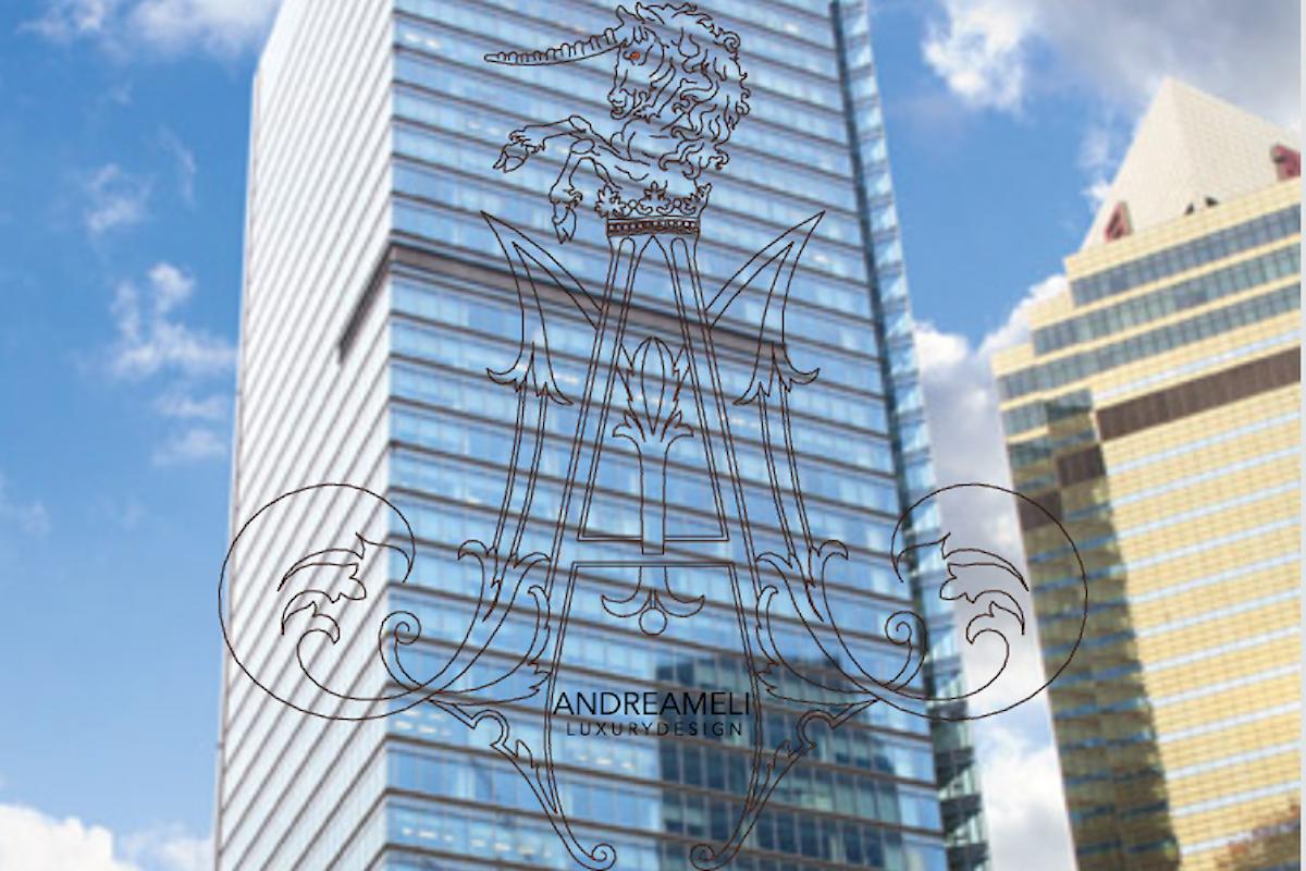Designer italiano si lancia sulla torre