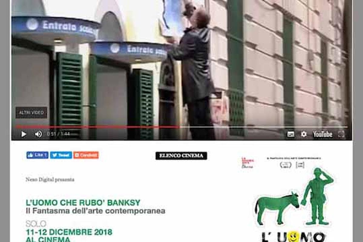 """Nel film """"L'uomo che rubò Banksy""""qualche frame con Augusto De Luca, il Cacciatore di Graffiti"""