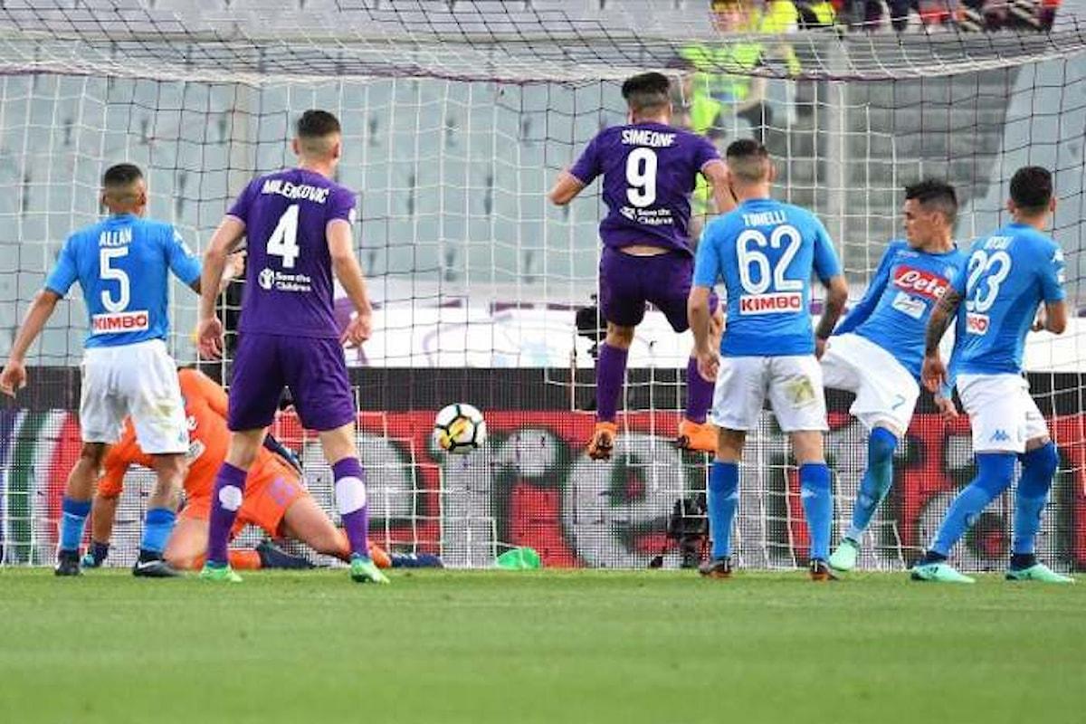 Simeone batte il Napoli 3-0 e lo taglia fuori dalla corsa per lo scudetto