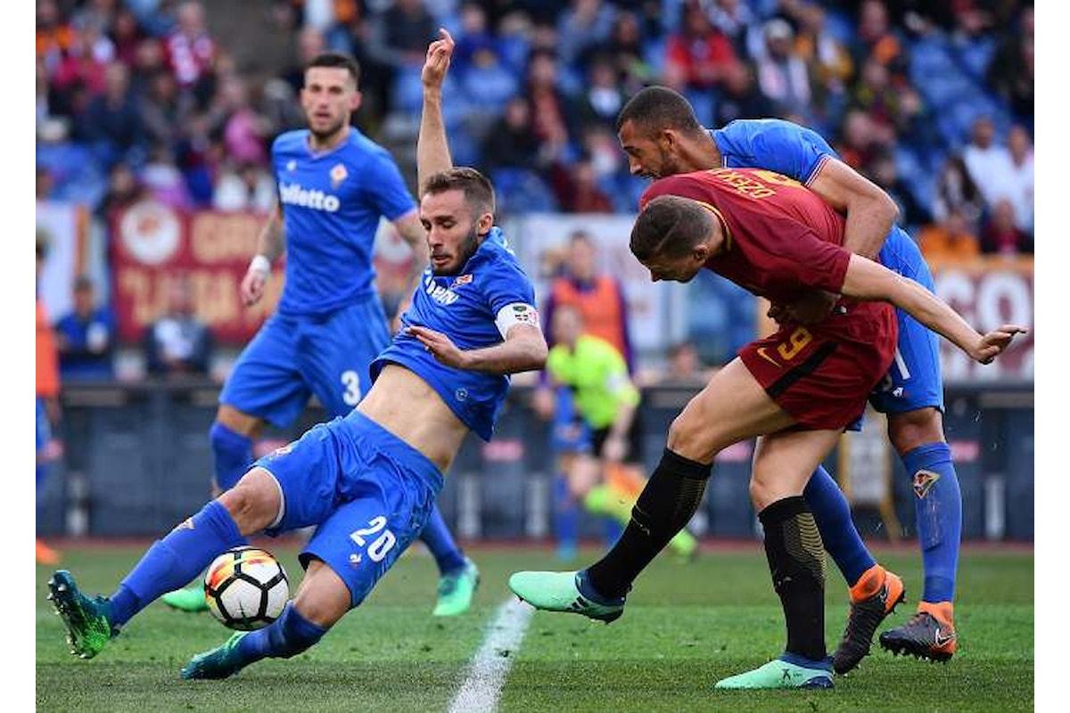 La Fiorentina espugna l'Olimpico battendo la Roma per 2-0