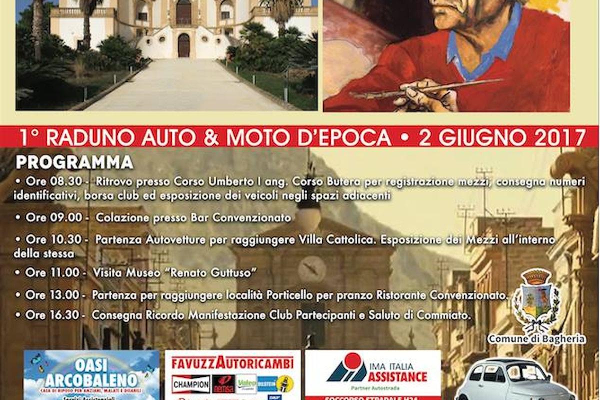 2 Giugno 2017 - Festa della Repubblica a Bagheria - raduno di auto e moto d'epoca, per i partecipanti in omaggio un modellino della mitica FIAT 500, in Ceramica Artistica Siciliana
