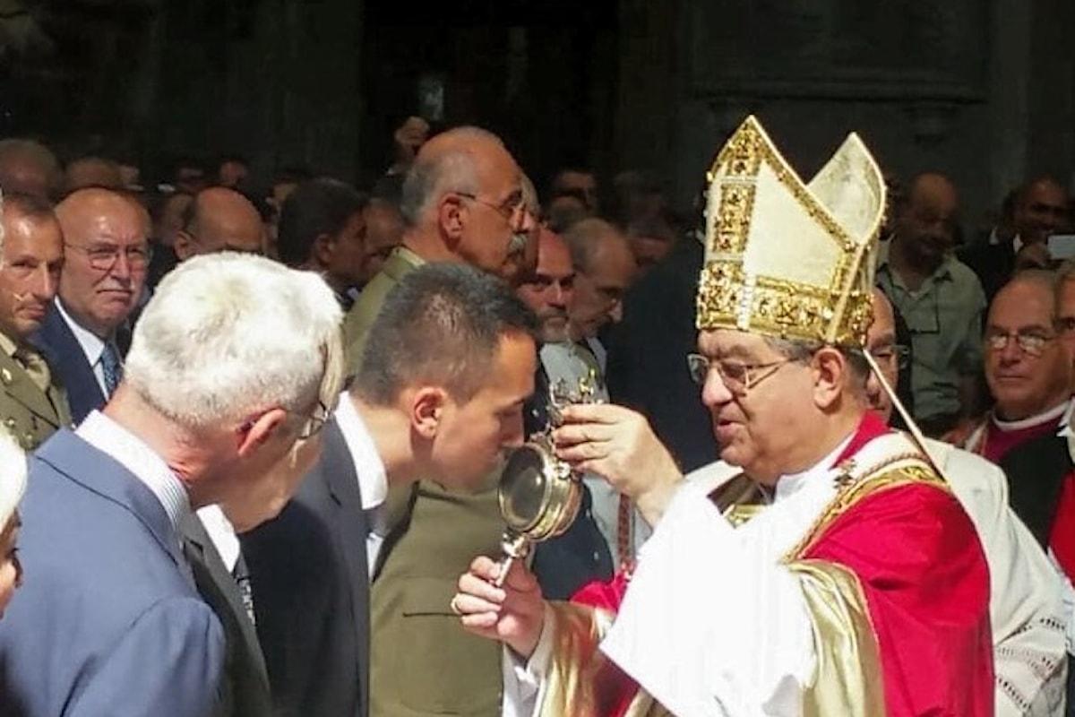 Luigi Di Maio miracolato da San Gennaro