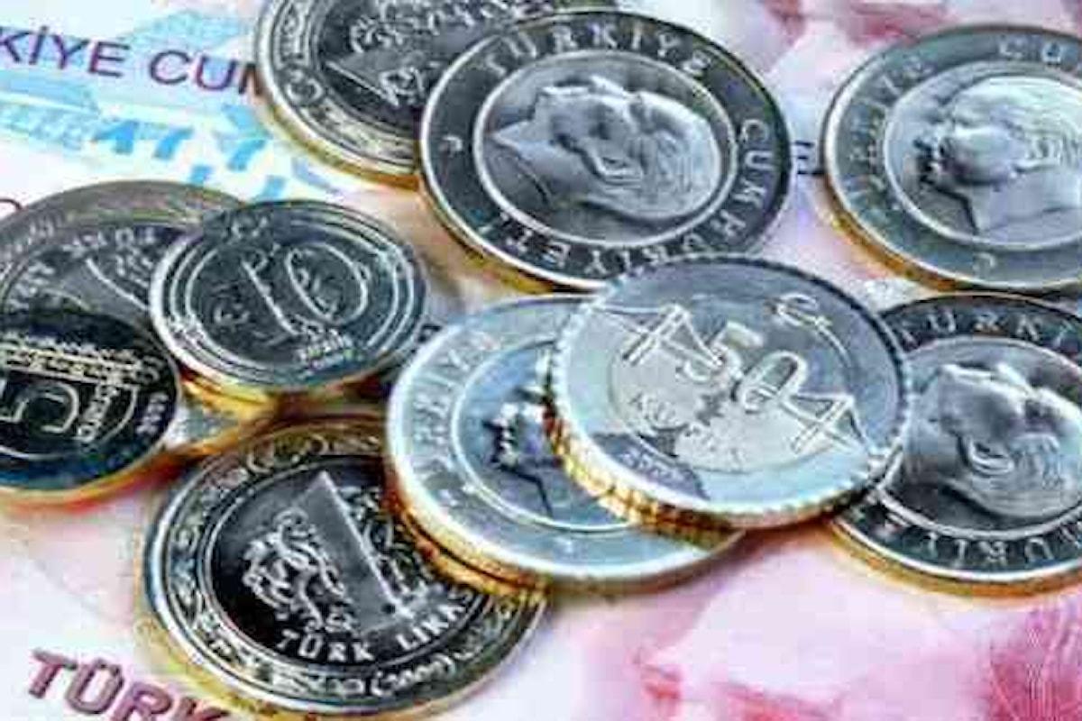 Lira turca nei guai. Adesso l'inflazione fa di nuovo paura