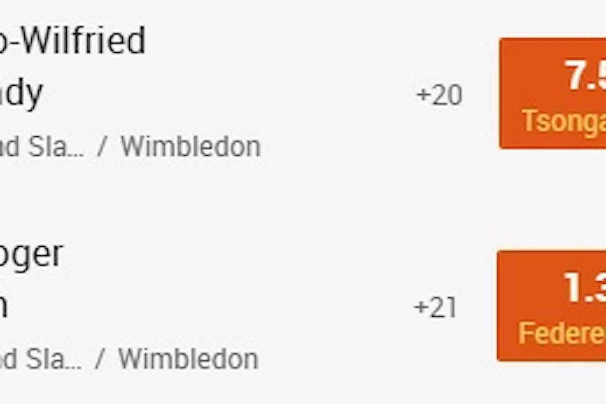 Wimbledon: Murray e Federer a quota semifinale su 888sport.it