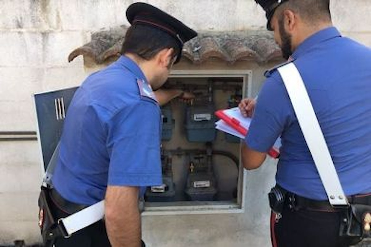 Montesano S.M. (SA): furto di acqua, 11 denunce